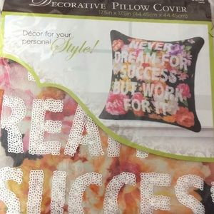 Hobby Lobby Accents 425 Sale Pillow Cover Never Dream Success